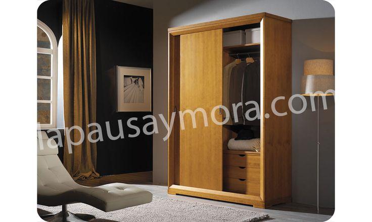 Mueble de dormitorio de Lapausa y Mora, colección Nova. Composición 01 con acabado en Cerezo envejecido (29).