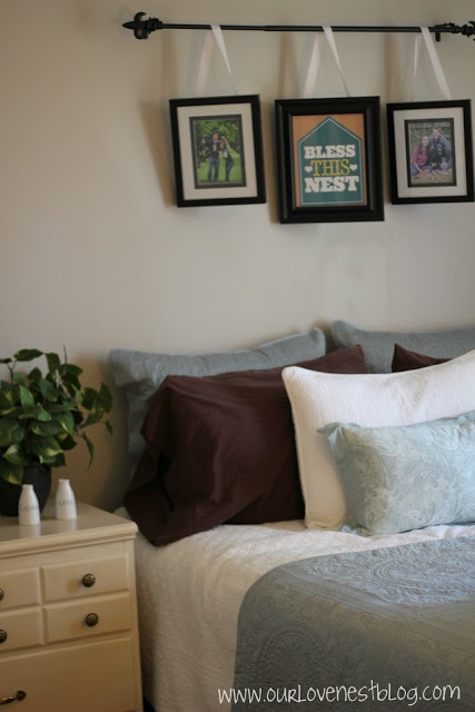 Picture Headboard (Can't find the photo I'm thinking of,  but something like this...
