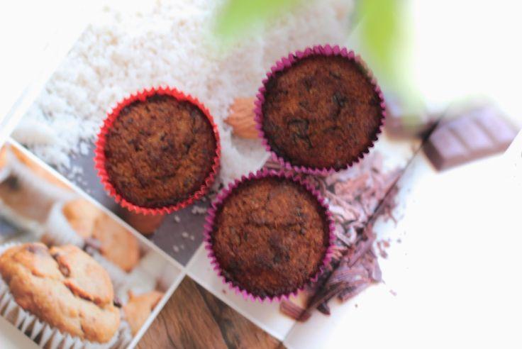 LovingLifeIsEasy: Healthy Recept / Chocolate Chip Muffins van Amber Albarda