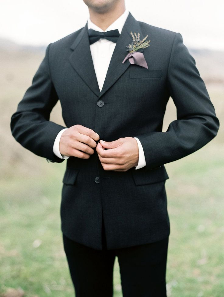 Best 25+ Black suit groom ideas on Pinterest | Groomsmen ...  Best 25+ Black ...