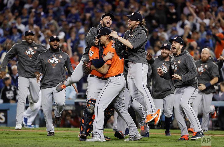 World Series Astros Dodgers Baseball The Houston Astros celebrate after Game 7 of baseball's World Series against the Los Angeles Dodgers on Nov. 1, 2017, in Los Angeles. The Astros won 5-1 to win the series 4-3. (AP Photo/Matt Slocum)