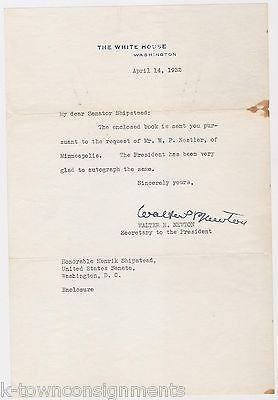 WALTER NEWTON SECRETARY TO PRESIDENT ROOSEVELT AUTOGRAPH SIGNED WHITE HOUSE NOTE