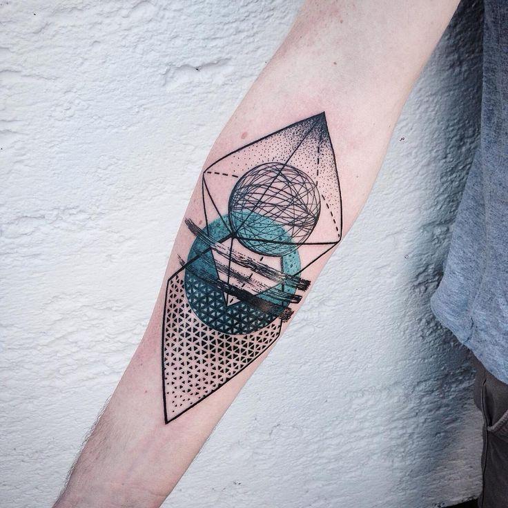 abstract geometric tattoo