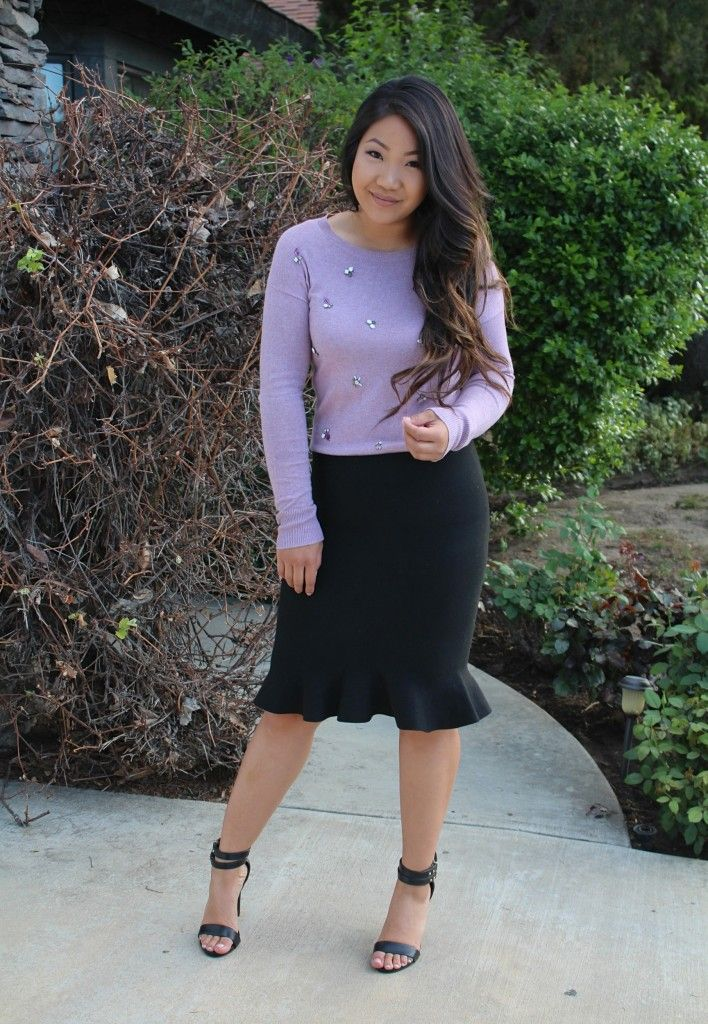 Jeweled Sweater - Tia Alese Wong | Sunday Best | Church Outfit | LDS | Mormon | Modest | Modest church outfit | Fishtail Skirt | SheIn | SheInside | Target | targetstyle | church look |