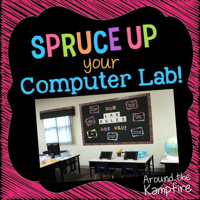 Now that my classroom is (almost) in full swing and beginning to to run a bit more smoothly, we'll soon be spending some time in our computer lab. I'm in complete back to school decorating mode so I thought I'd share a few tips for sprucing up your lab and taking it from drab to …