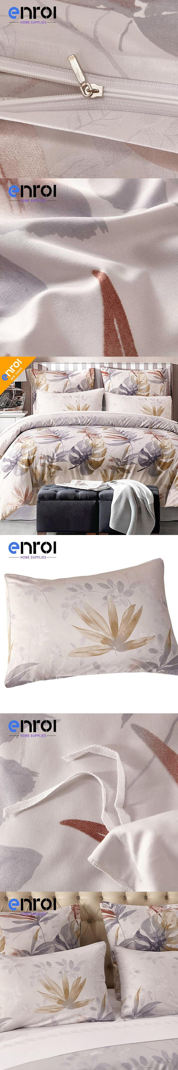 Polyester Bedding Set Russia Printed Flowers Pattern Duvet Cover Bed Cover  Pillowcase Double Europe Family New
