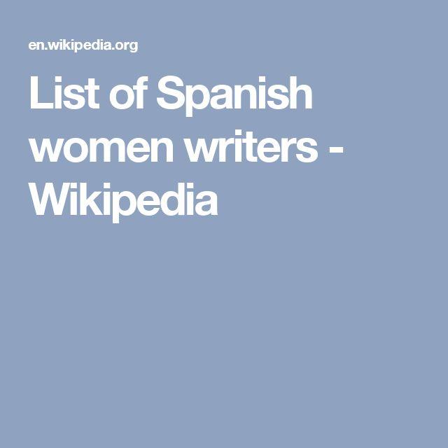 List of Spanish women writers - Wikipedia
