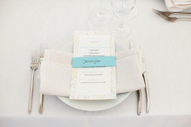 Kleurrijke menukaarten voor je bruiloft | ThePerfectWedding.nl
