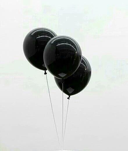black, balloons, and white resmi