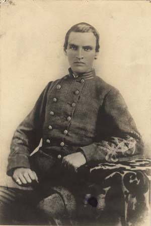Captain Reuben Vaughan Kidd, Company A, 4th Alabama Infantry [Law's Brigade, Hood's Division, Longstreet's Corps], C.S.A. [killed in action at Chickamauga]. Alabama Photographs and Pictures Collection.