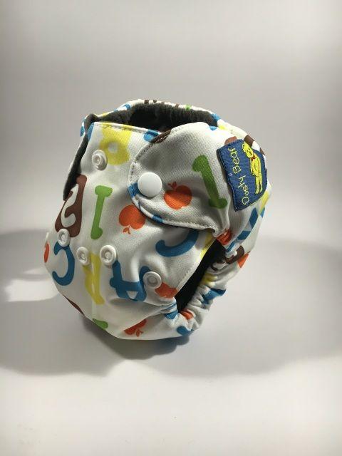 ABC, 123 - Premature Modern Cloth Nappy