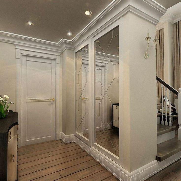 """Двухуровневая квартира выполненная в легком классическом стиле. Межкомнатные двери Волховец играют важную роль в полной композиции для обьединения и уюта пространства. В интерьере использованы двери компании """"Волховец"""" коллекция Perfecto, двери из массива, цвет: белая эмаль. #волховец #двериволховец #меж�%'¤–¥ˆ—…"""
