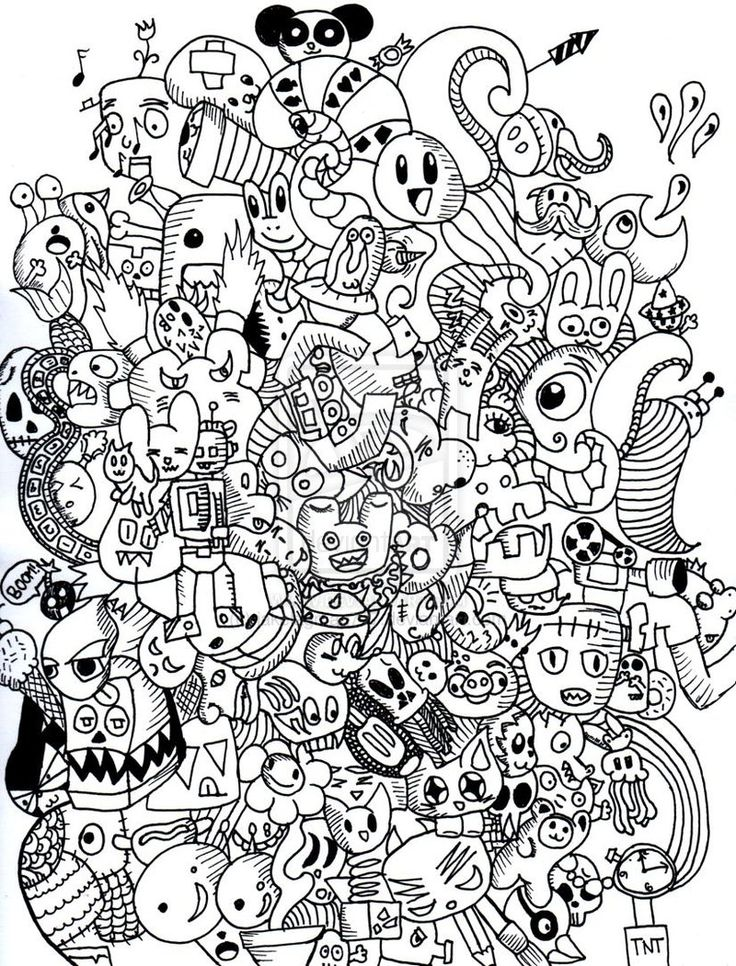 382 best doodle monster coloring pages images on for Art drawing ideas for adults