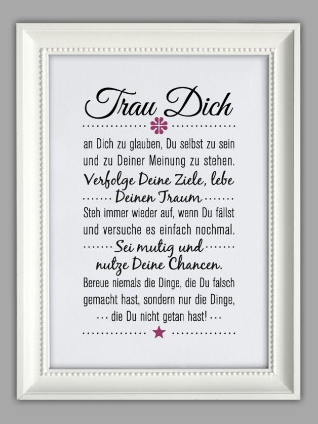 """Originaldruck - """"TRAU DICH"""" Kunstdruck - ein Designerstück von Smart-Art-Kunstdrucke bei DaWanda"""