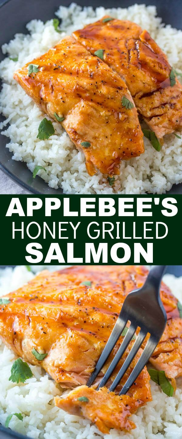 Want restaurant quality dishes at home? This Copycat Applebee's Honey Grilled Salmon is a quick and easy recipe that you can make in your own kitchen! #copycat #takeoutfakeout #takeout #salmon #honey #sauce #grilled #grilledsalmon #delicious #restaurant