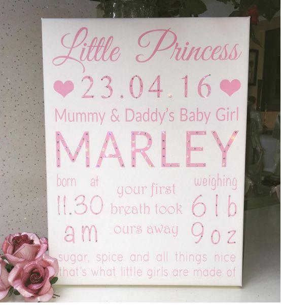 Gorgeous Little Princess Canvas. ❤www.hunnibunniboutique.co.uk