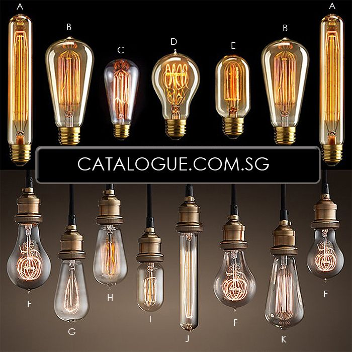 Edison Light Bulbs | Wallpaper, lighting, flooring, renovation deals and discounts in Singapore.