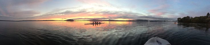 Sunrise with rowers