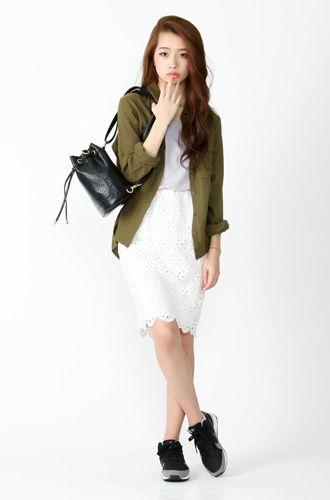 大人ガーリーなタイプの女子にオススメしたい☆キレカジ系コーデ、スタイル・ファッションの参考に♪