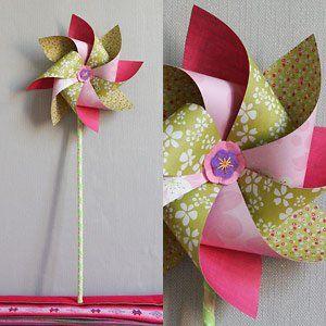 Moulin à vent décoratif en carton - tutoriel