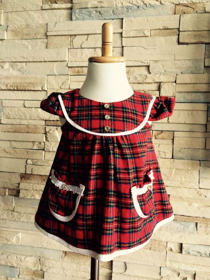 Perfect red plaid baby Christmas dress..Etsy shop https://www.etsy.com/ca/listing/260426392/red-plaid-cotton-dress