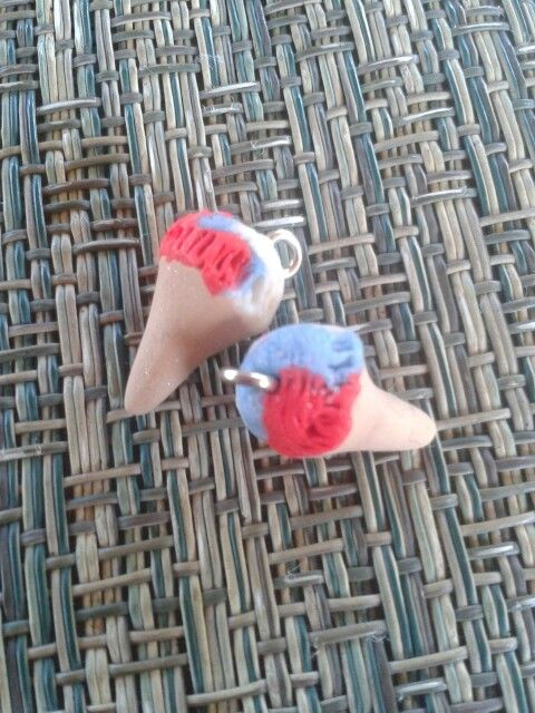 Multi colored ice creams