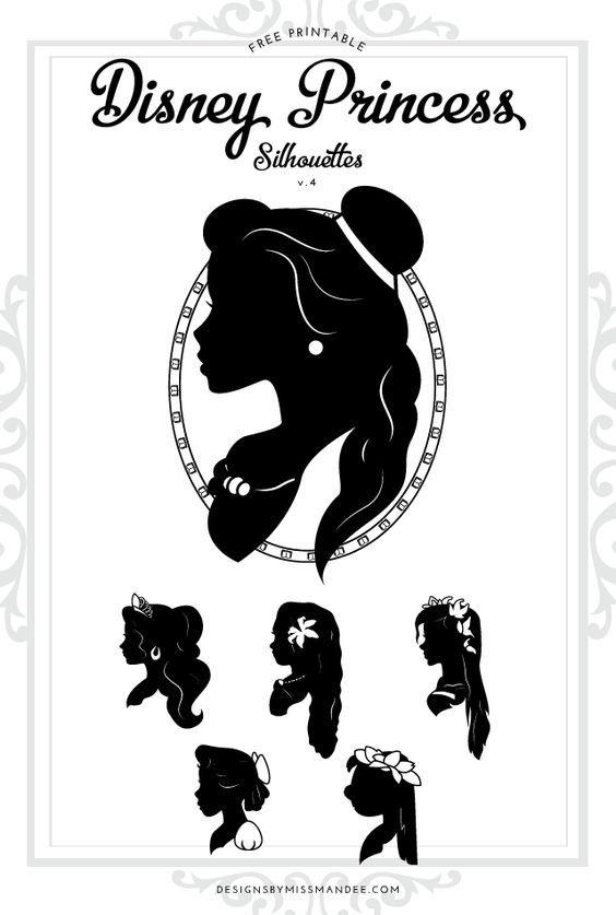 Disney Princess Silhouettes v 4 | cricut | Disney princess