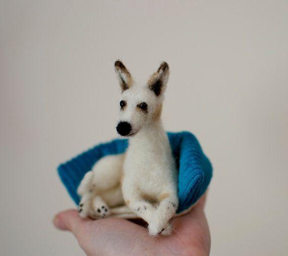 Felt pet - mini felt 3D dog sculpture - Made To Order