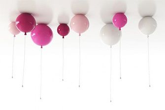 Balloon ceiling lights.. Switch on with the hanging cord.