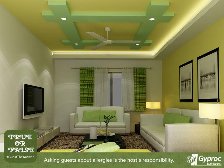 Ceiling Design, Home Decor, Living Room, Interior, Image, Ceilings,  Homemade Home Decor, Roof Design, House Design