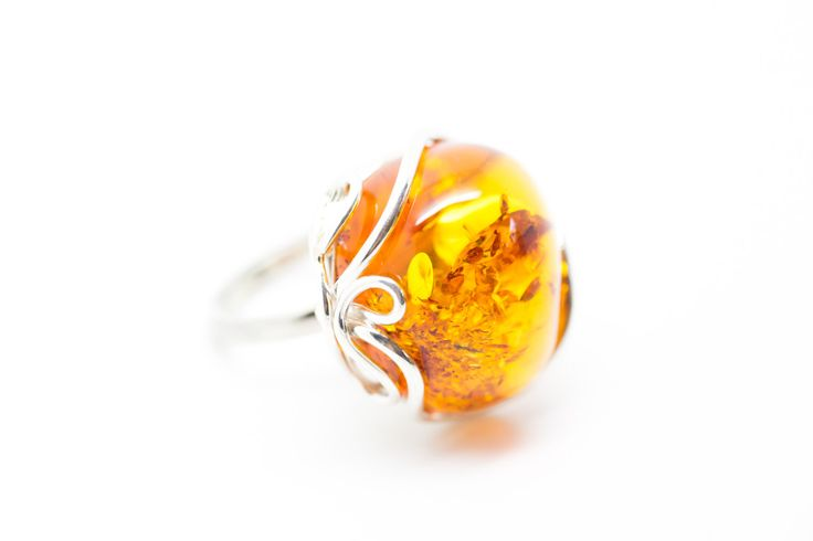 Amber Adjustable Amber Ring, amber ring, fully adjustable ring, amber jewellery, jewelry, baltic amber, handmade, large amber ring, rings by BalticBeauty925 on Etsy