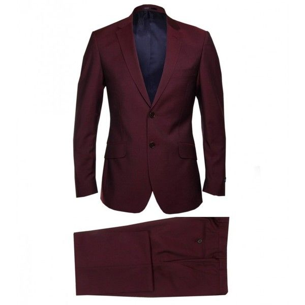 Paul Smith London London Burgundy Wool Mohair Suit ($730) ❤ liked on Polyvore featuring men's fashion, men's clothing, men's suits, men, mens burgundy suit, mens clothing, mens suits, men's apparel and slim fit mens clothing