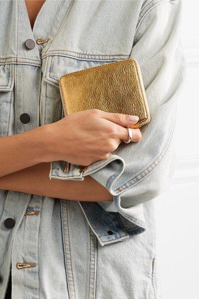 Comme des Garçons - Metallic Textured-leather Wallet - Gold