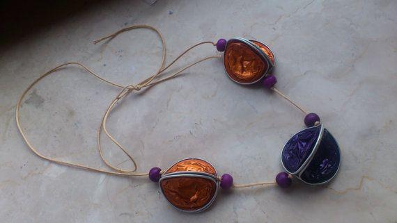 collier fait avec des capsules Nespresso recyclés par onlywishh, €15.00