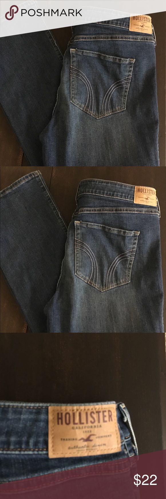 """Women's new Hollister boot cut jeans 32x 33 Women's Hollister Boot cut Jeans  15R. Waist 32"""" Length 33"""". Brand new still with tags.  Fast shipping 🏃🏼♀️🏃🏼♀️ Hollister Jeans Boot Cut"""
