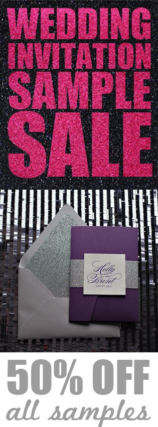 Just Invite Me SAMPLE SALE!!! 50% OFF, Best Selling Wedding Invitations, Glitter Wedding Invitations, Letterpress Wedding Invitations, Digital Wedding Invitations, Chicago Wedding Invitations, 2014 Wedding Trends, Wedding Sales, Wedding Planning, Fall Wedding Trends, Rustic Wedding Invitations, Art Deco Wedding Invitations, Wedding Deals, Affordable Wedding Invitations, http://justinviteme.com/collections/samples-1