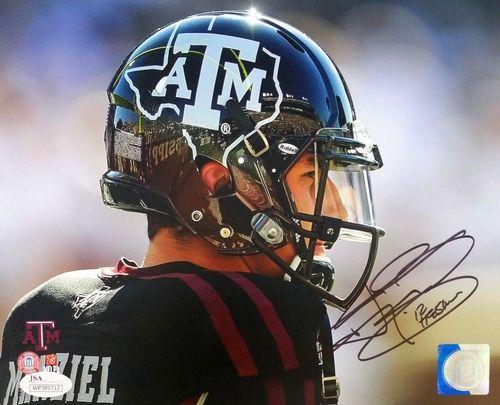 Johnny Manziel Signed Texas AM Aggies 8x10 Side View Photo Insc 12 Heisman JSA