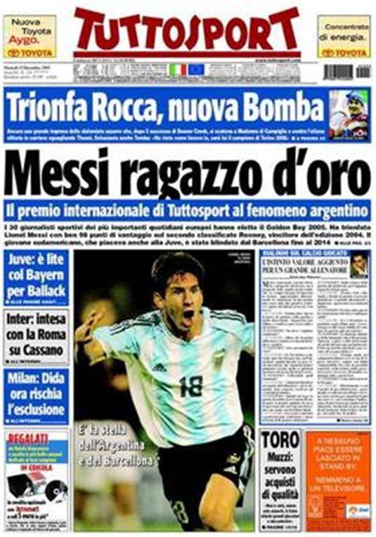 Messi, un  golden boy