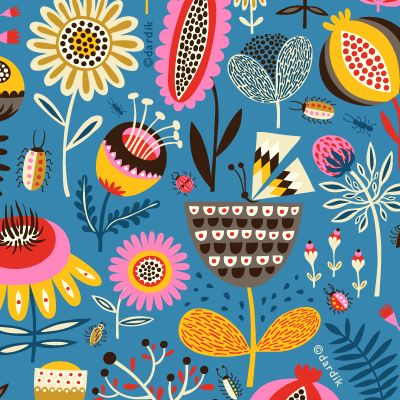 Helen Dardik: Helen Dardik, Helendardik, Summer Gardens, Flowers Patterns, Color, Fartsi Inspiration, Orange You Lucky, Flowers Power, Blue Backgrounds