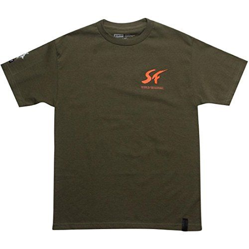 BAIT Mens Street Fighter Ryu Championship Tee Large Army Green @ niftywarehouse.com #NiftyWarehouse #StreetFighter #VideoGames #Gaming