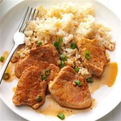 """Asian Pork Medallions Recipe -""""When I became serious about losing weight and getting healthy, my kids missed the Chinese delivery that I used to order so frequently. I combined a few recipes to come up with this tasty winner."""" Dianne James - Edmond, Oklahoma"""
