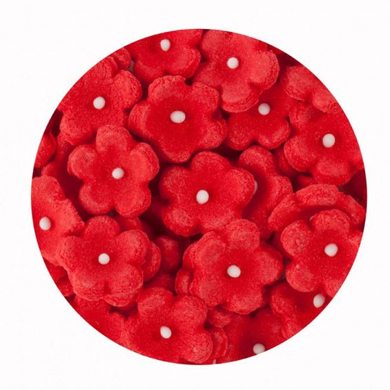 Sugar Forget-Me-Nots Small Red - Pack of 50