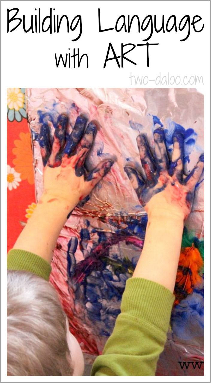 How to use art activities to build speech and language skills in young children.