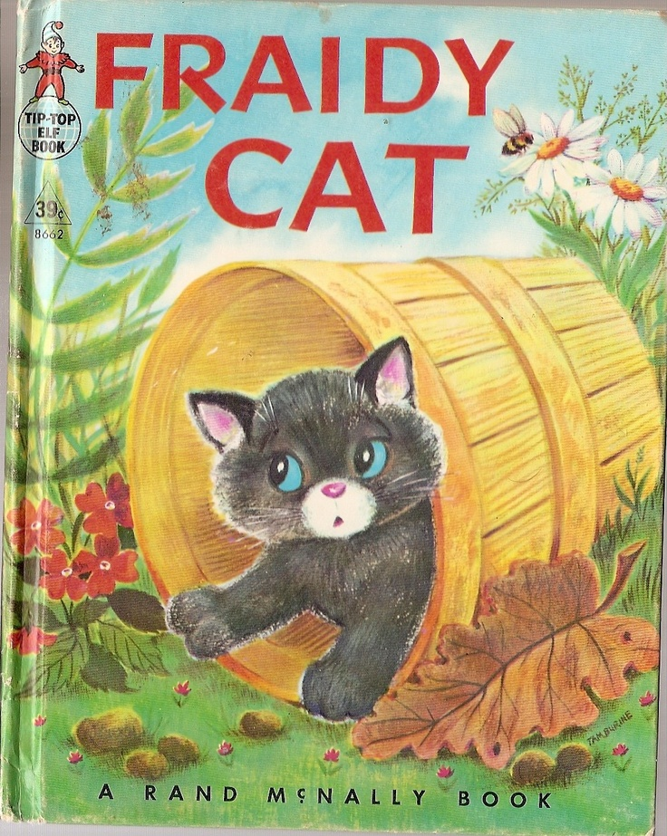Fraidy Cat Rand Mc Nally vintage children's book Old