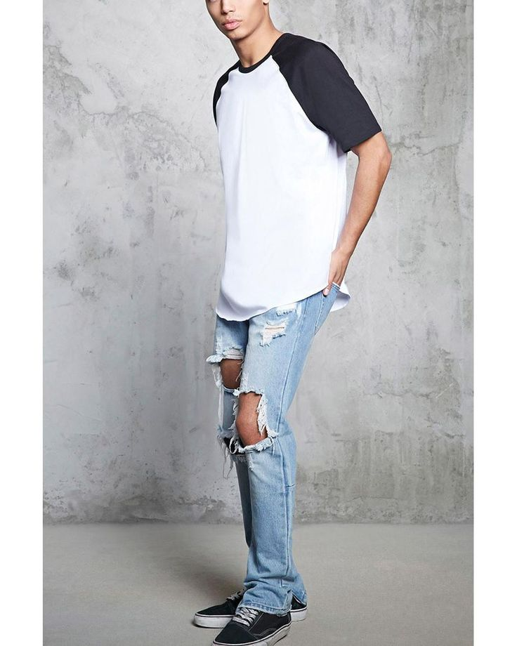 Buy Forever 21 Men's White Colorblock Raglan Tee, starting at $10. Similar products also available. SALE now on!