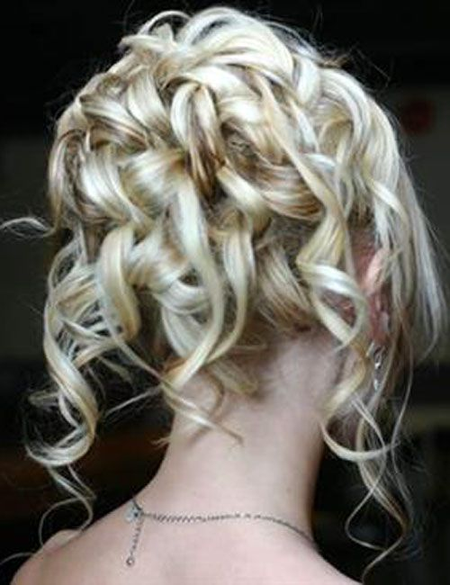 Curly Updo Wedding Hairstyles | Glamorous Curly Wedding Updos For Medium Length Hair | Updos for ...