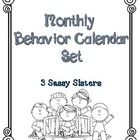 This monthly behavior calendar set includes the months of August-May.  Each calendar includes a behavior code chart to aide in marking calendars da...