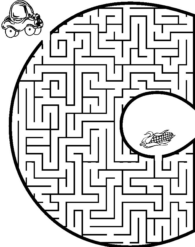 coloring pages mazes letter - photo#20