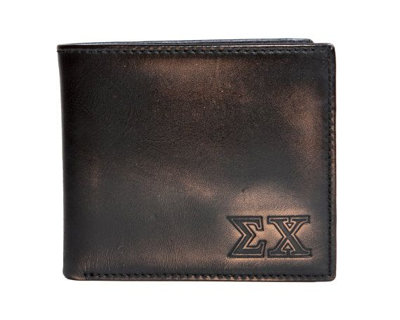 SIGMA CHI Bifold Wallet - Mens Wallet - Leather Wallet - Mens Leather Wallets - Sigma Chi - Greek