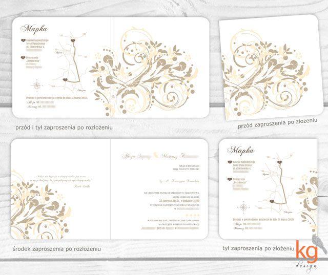 Ornamentowa Elegancja Klasyczne Zaproszenie ślubne Oryginalne
